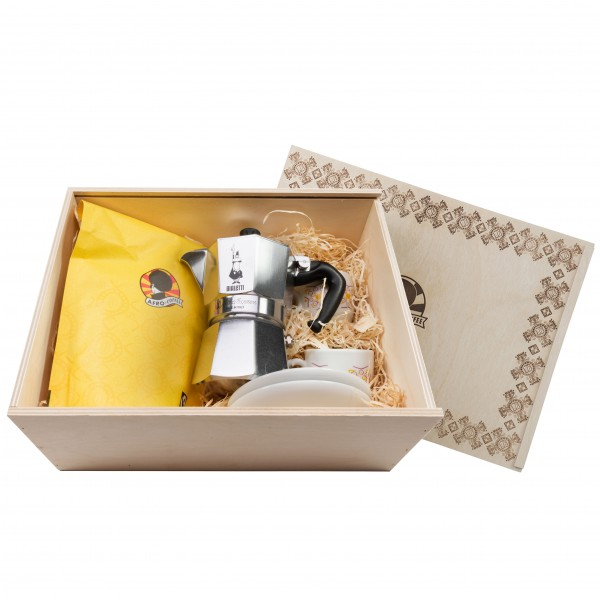 Holz-Geschenkbox Afro Coffee - Limited Edition