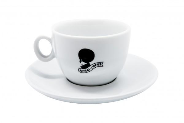 AFRO Cappuccino-Tasse Weiß