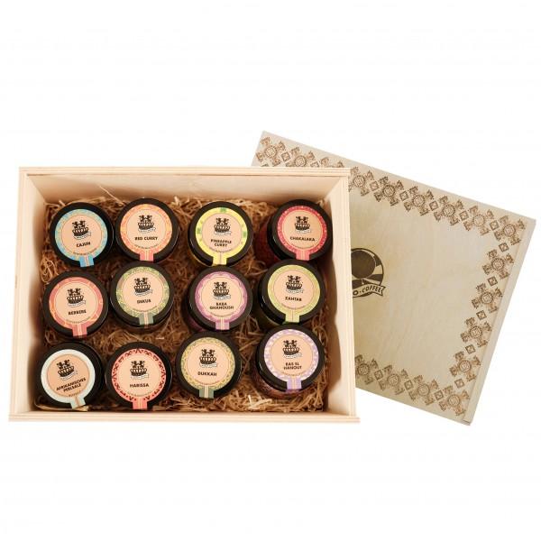Holz-Geschenkbox Afro Spices