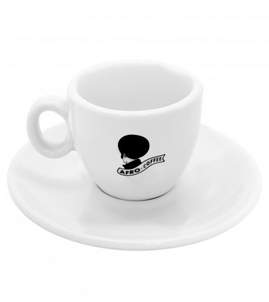 AFRO Espresso-Tasse weiß