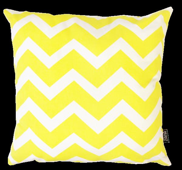 Siebdruck-Kissenbezug Gelb