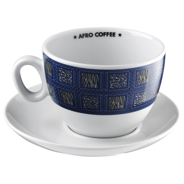 Afro Coffee Cafe Latte Tasse blau, 1st edition