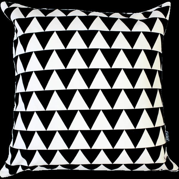 Siebdruck-Kissenbezug Black Triangle