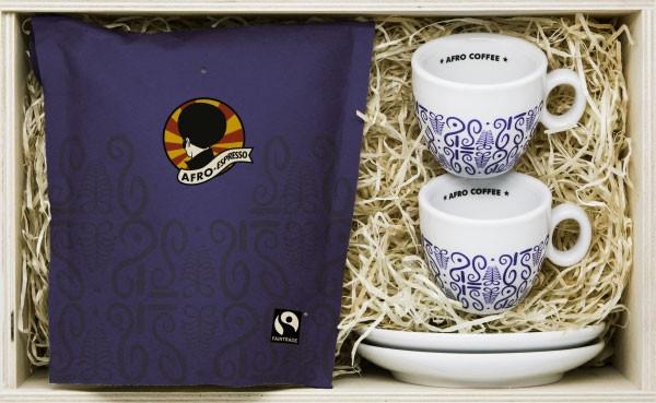 Afro Coffee Kaffee Geschenk-Box